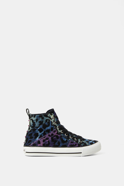 High-top sneakers leopard