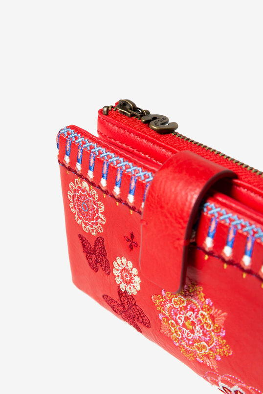 Medium embroidered coin purse | Desigual
