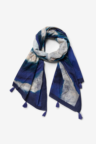 Sjaal met artistieke print