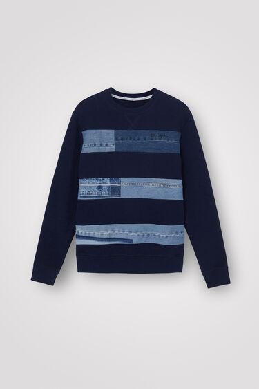 Sweater Jeans-Flicken | Desigual