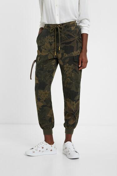 Pantalons cargo camoflower | Desigual