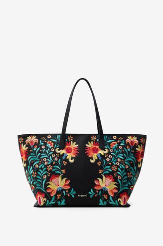 Floral print maxi-bag