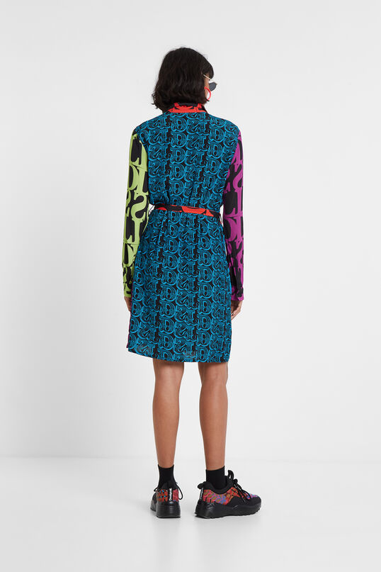 Logomania shirt dress Designed by M. Christian Lacroix   Desigual