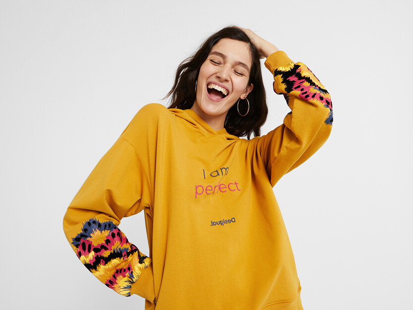 Hooded sweatshirt message