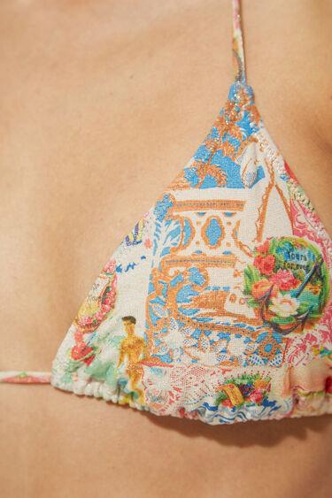 Hawaiian Lurex bikini top | Desigual