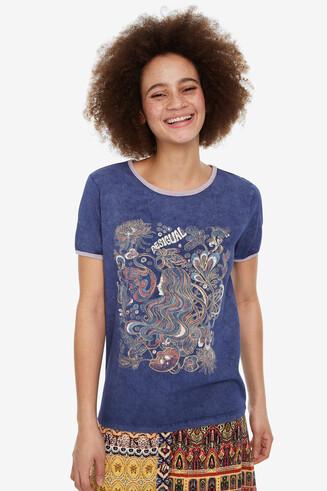 Maglietta con profili rosa Sheffield