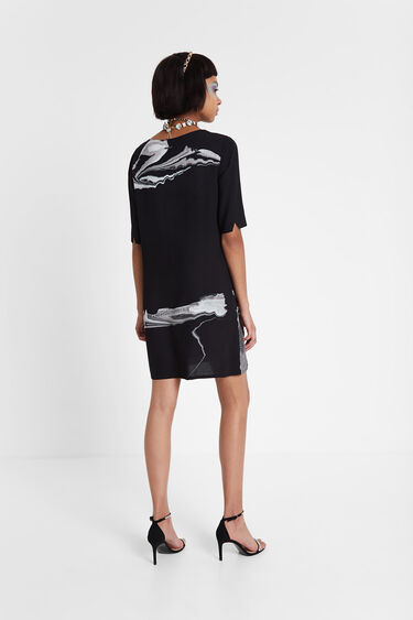 Robe t-shirt en viscose Designed by M. Christian Lacroix | Desigual