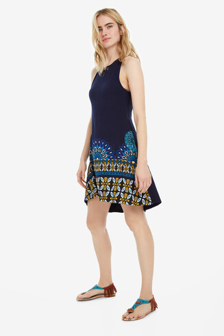 Blue Viscose Dress Valery