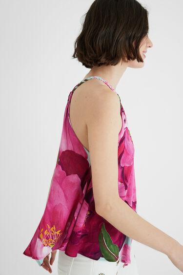 Tropical halter neck blouse | Desigual