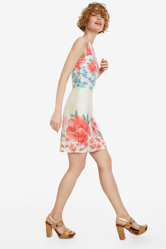 Floral Short Fitted Dress Yaquel