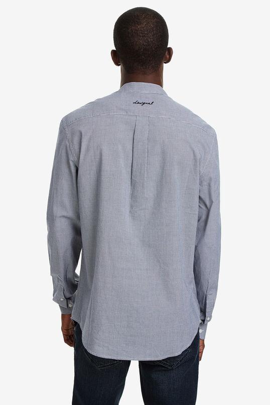 Mandarin collar embroidered shirt | Desigual