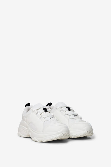 Chunky white sneakers | Desigual