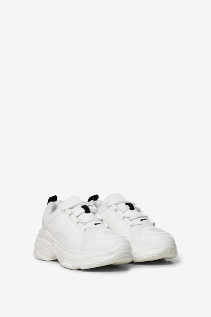 Chunky white sneakers