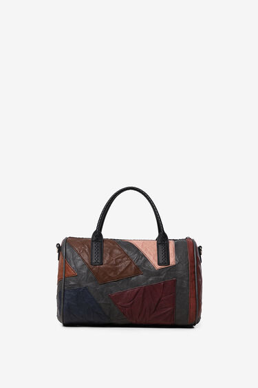 Cylinder handbag  synthetic leather patch | Desigual