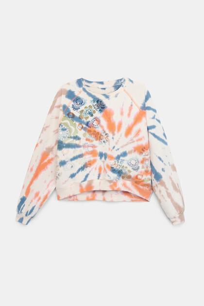 Plush sweatshirt tie-dye