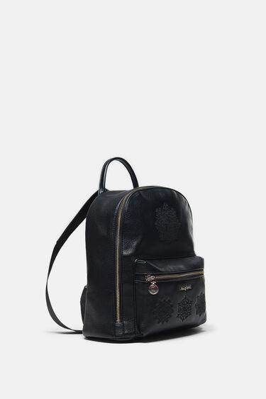 Backpack embroidered with scarf | Desigual