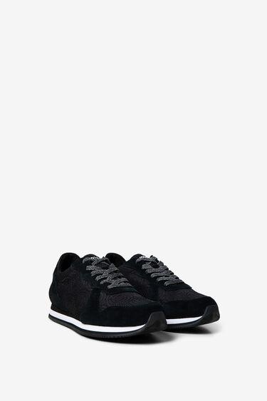 Logomania nylon and suede sneakers | Desigual