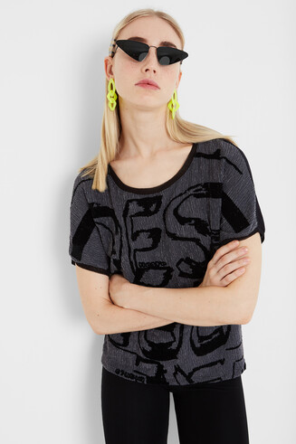Desigual lettering loose shirt