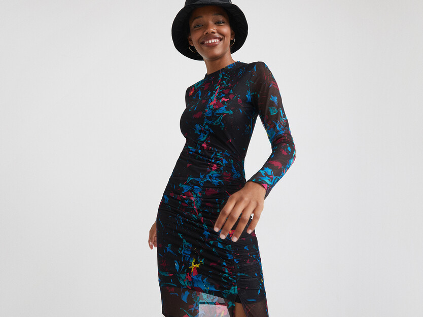 Slim midi-dress