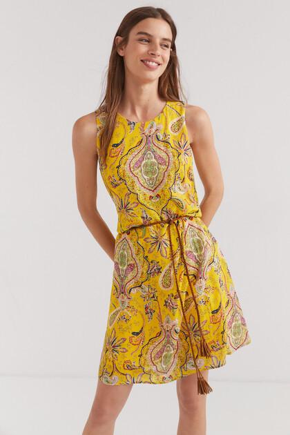 Flowing print dress