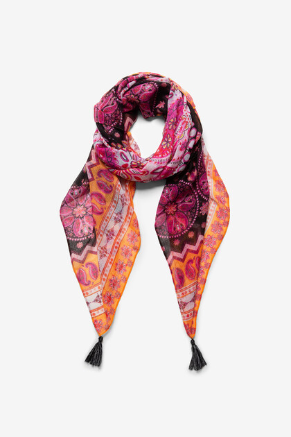 Boho-sjaal met mandala's