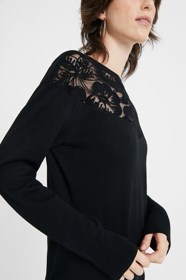 Pullover in maglia a fiori | Desigual
