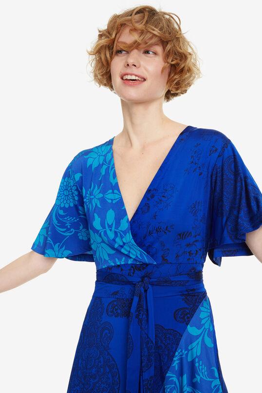 Blue Ruffled Dress Fedra | Desigual
