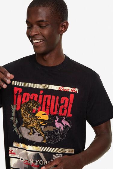 100% cotton tiger print T-shirt | Desigual