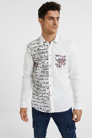 Chemise lettering 100% coton | Desigual