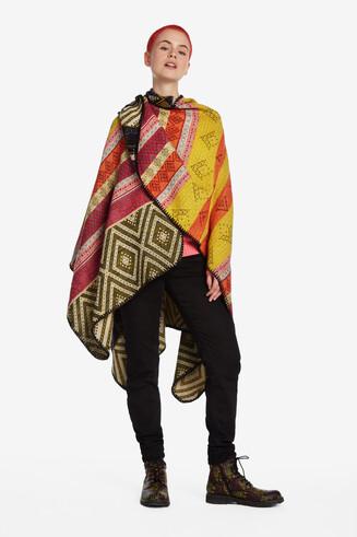 Ethnic square poncho
