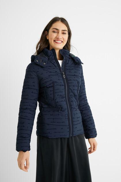 Slim padded short jacket