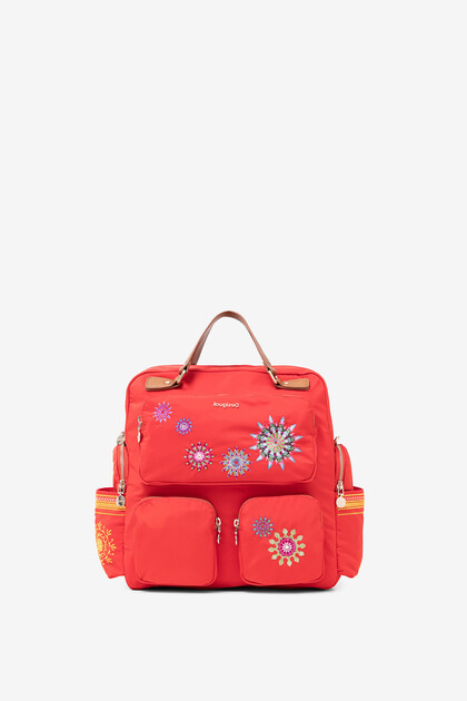 Retro backpack with mandalas