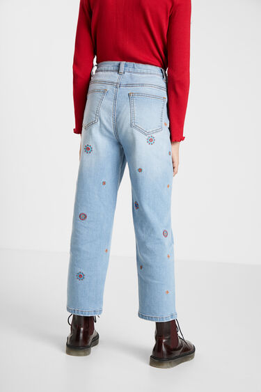 Mum fit embroidered jeans | Desigual