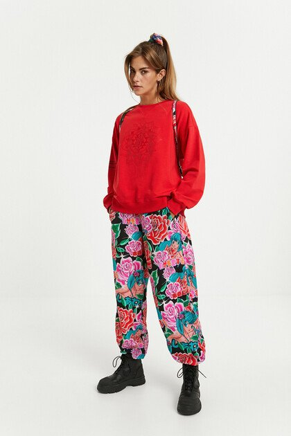 Floral jogger trousers