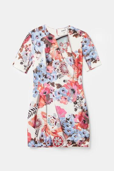 Short dress diagonal pleats | Desigual
