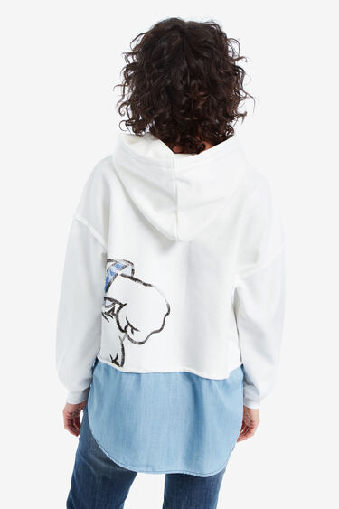 Blue loose Donald Duck sweatshirt | Desigual