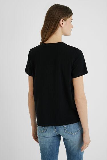 T-shirt court ornements message | Desigual