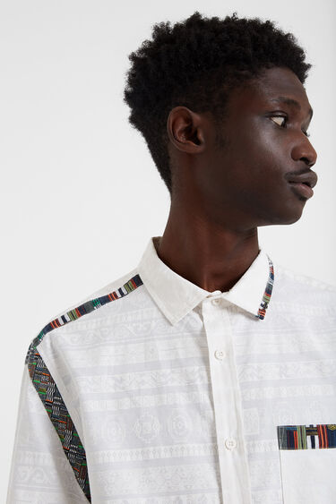 Shirt African friezes and embellishments | Desigual