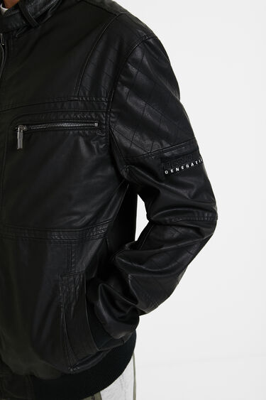 Leather effect biker jacket | Desigual