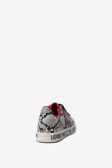 Sneakers slangenleereffect LOVE | Desigual