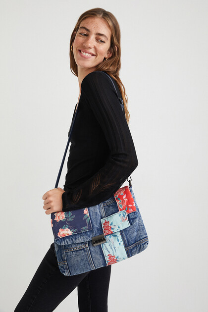 Sling bag patch denim