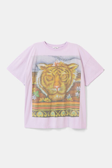 Unisex Hindu T-shirt with tiger | Desigual