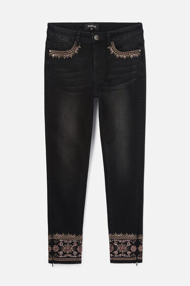 Skinny embroidered jeans | Desigual