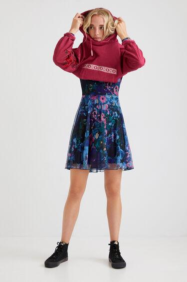 Short dress flared print | Desigual