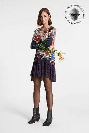 Short dress flounced skirt
