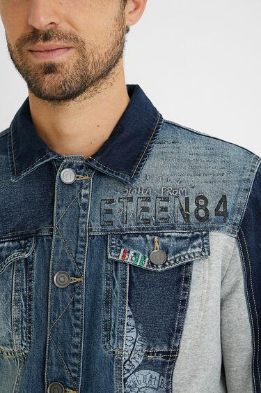 Jacket hybrid denim plush | Desigual