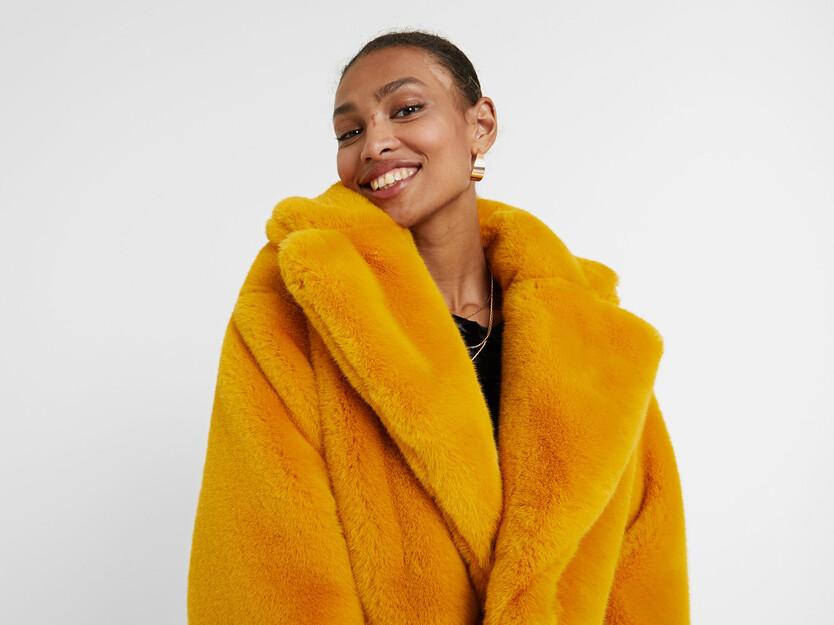 Oversize plush jacket