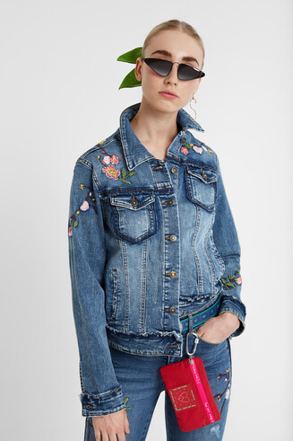 Jean jacket embroidery
