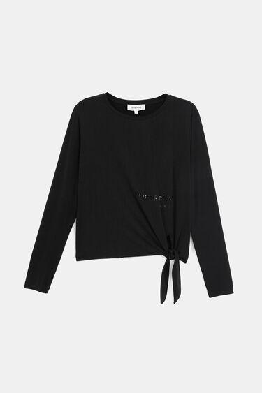 Cupro-Shirt mit Knoten | Desigual