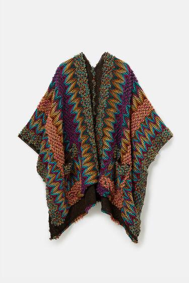 Knit kaftan poncho | Desigual